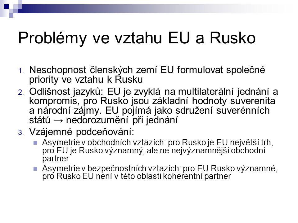 USA a Rusko Invaze do Iráku → Rusko v opozici  Nedošlo k roztržce mezi oběma velmocemi, ale vztahy se od té doby zhoršovaly Problémy:  2003 - znárodnění ropné společnosti Jukos (ztráty amerických akcionářů)  2004 - rozšíření NATO o Bulharsko, Estonsko, Lotyšsko, Litvu, Rumunsko, Slovensko, Slovinsko → v případě Pobaltí vstup do ruské sféry vlivu  Plán na vybudování protiraketového štítu ve střední Evropě