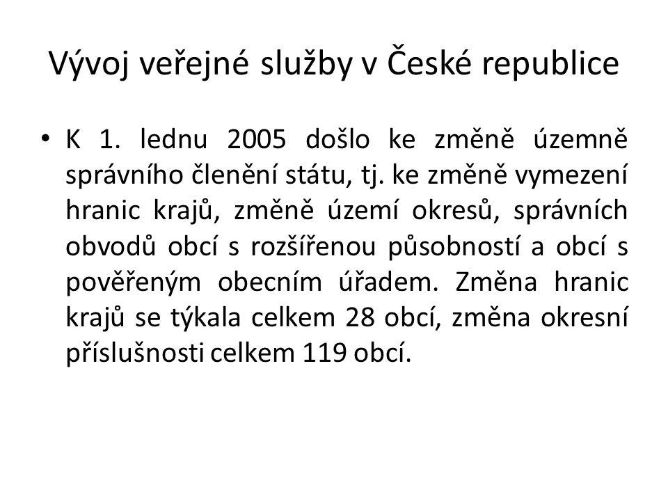 Vývoj veřejné služby v České republice K 1.