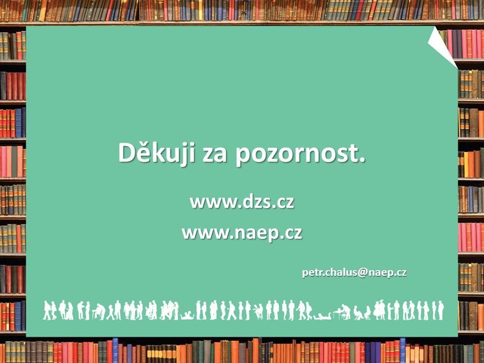 Děkuji za pozornost. www.dzs.czwww.naep.czpetr.chalus@naep.cz