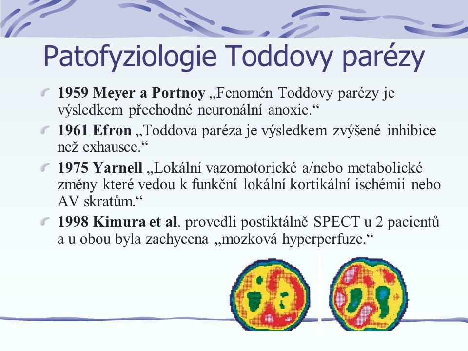Mnoho mechanizmů se ve všeobecnosti může podílet na postiktálním stavu: -neurotransmiterová deplece -neuronální desenzibilizace -alterace lokálního CBF (mozkového průtoku krve) (Weinand et al., J Neurosurg 1997) -různé formy aktivní inhibice (Fischer RS, Schachter SC, Epilepsy Behav 2000)