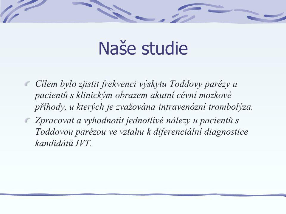 Metodika a pacienti Na intenzivních lůžkách iktové jednotky Neurologické kliniky FN Olomouc bylo od 11/2006 do 11/2007 hospitalizováno138 pacientů s CMP.