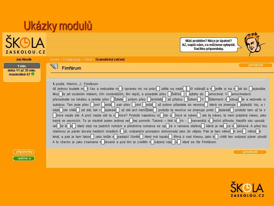 Ukázky modulů
