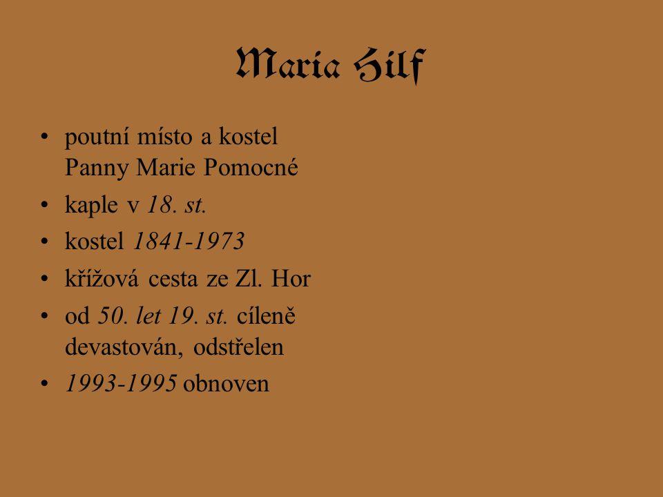 Maria Hilf poutní místo a kostel Panny Marie Pomocné kaple v 18.