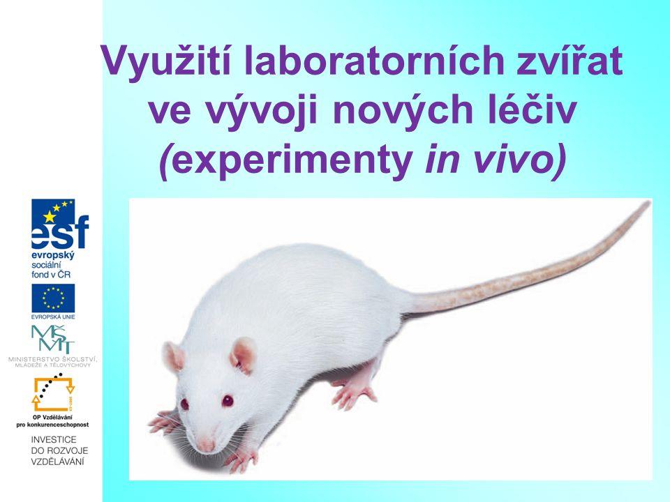 Využití laboratorních zvířat ve vývoji nových léčiv (experimenty in vivo)