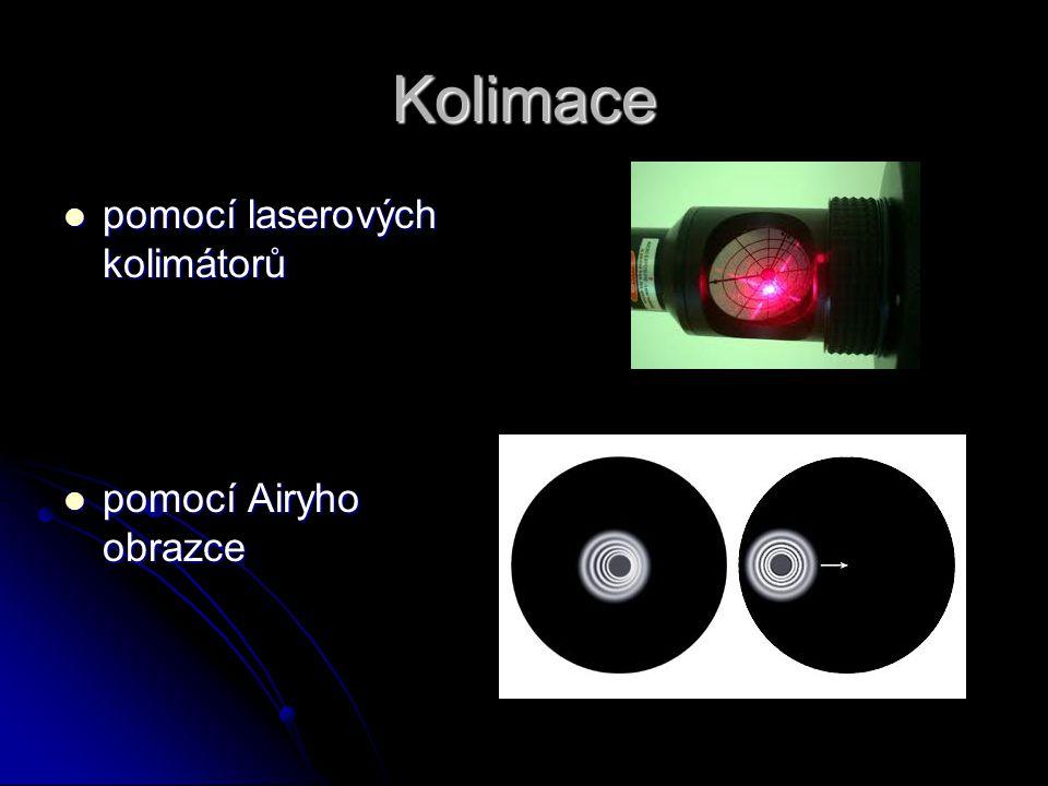 Kolimace pomocí laserových kolimátorů pomocí laserových kolimátorů pomocí Airyho obrazce pomocí Airyho obrazce