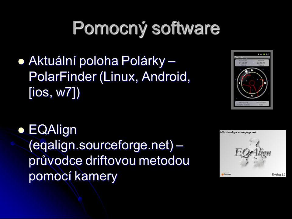 Pomocný software Aktuální poloha Polárky – PolarFinder (Linux, Android, [ios, w7]) Aktuální poloha Polárky – PolarFinder (Linux, Android, [ios, w7]) E