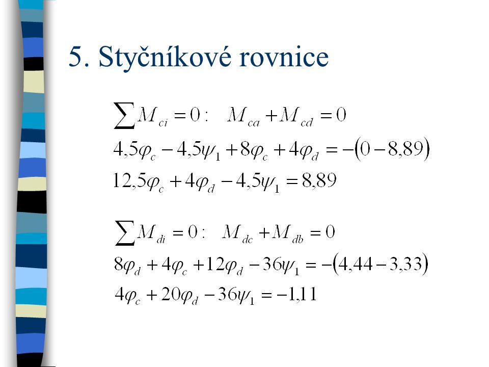 5. Styčníkové rovnice