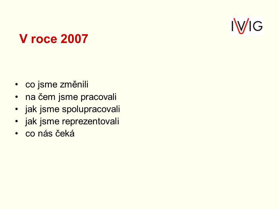 V roce 2007 co jsme změnili na čem jsme pracovali jak jsme spolupracovali jak jsme reprezentovali co nás čeká