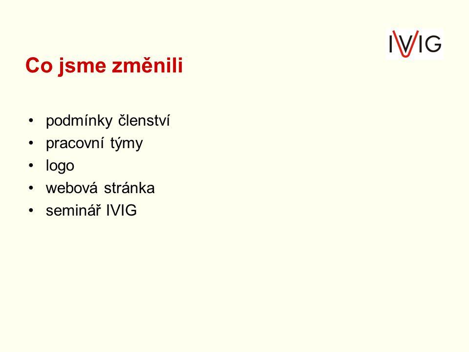 podmínky členství pracovní týmy logo webová stránka seminář IVIG Co jsme změnili