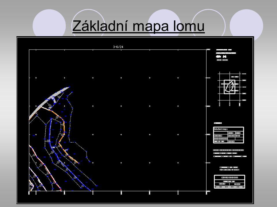 Základní mapa lomu