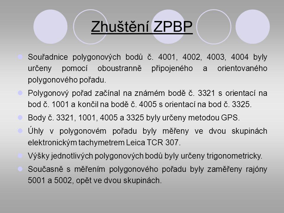 Zhuštění ZPBP Souřadnice polygonových bodů č.