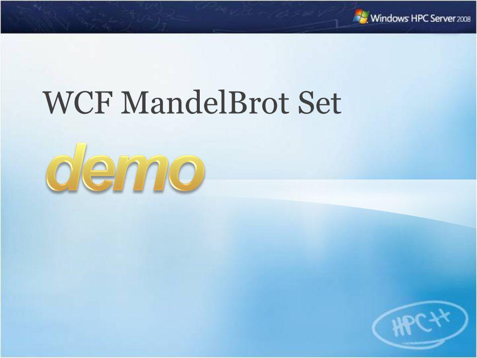 WCF MandelBrot Set