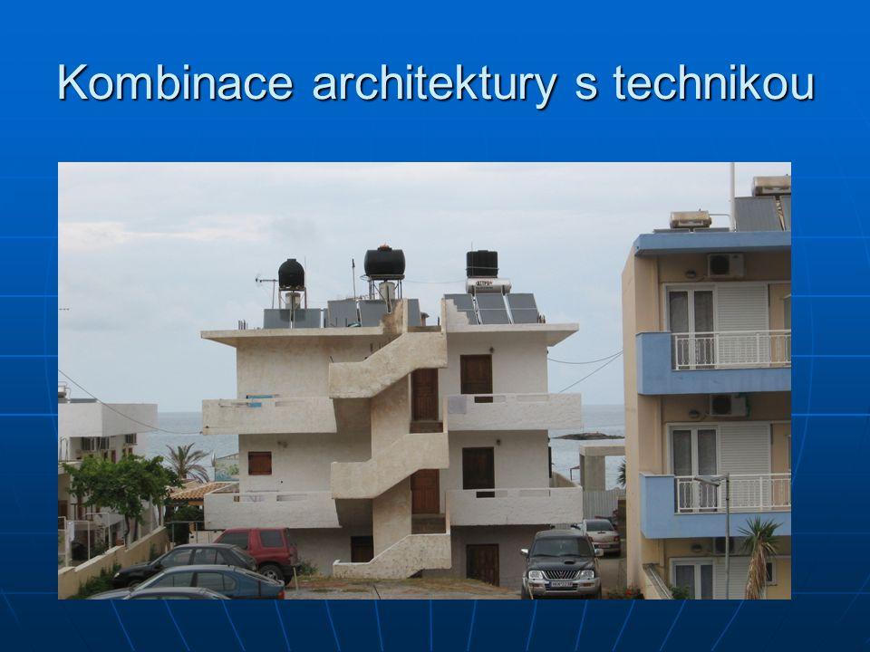 Kombinace architektury s technikou