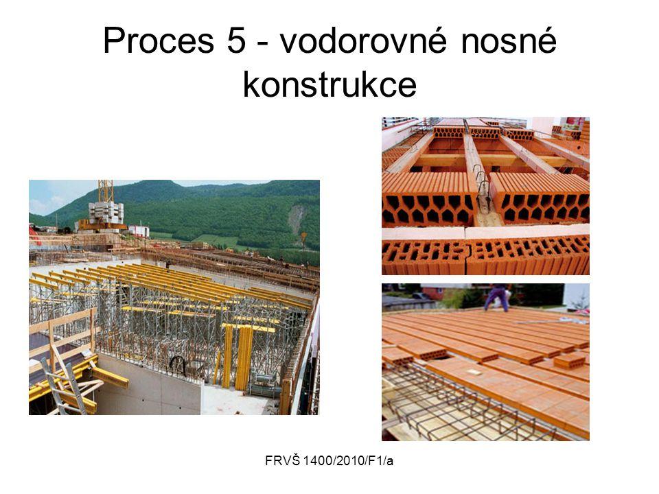 FRVŠ 1400/2010/F1/a Proces 5 - vodorovné nosné konstrukce