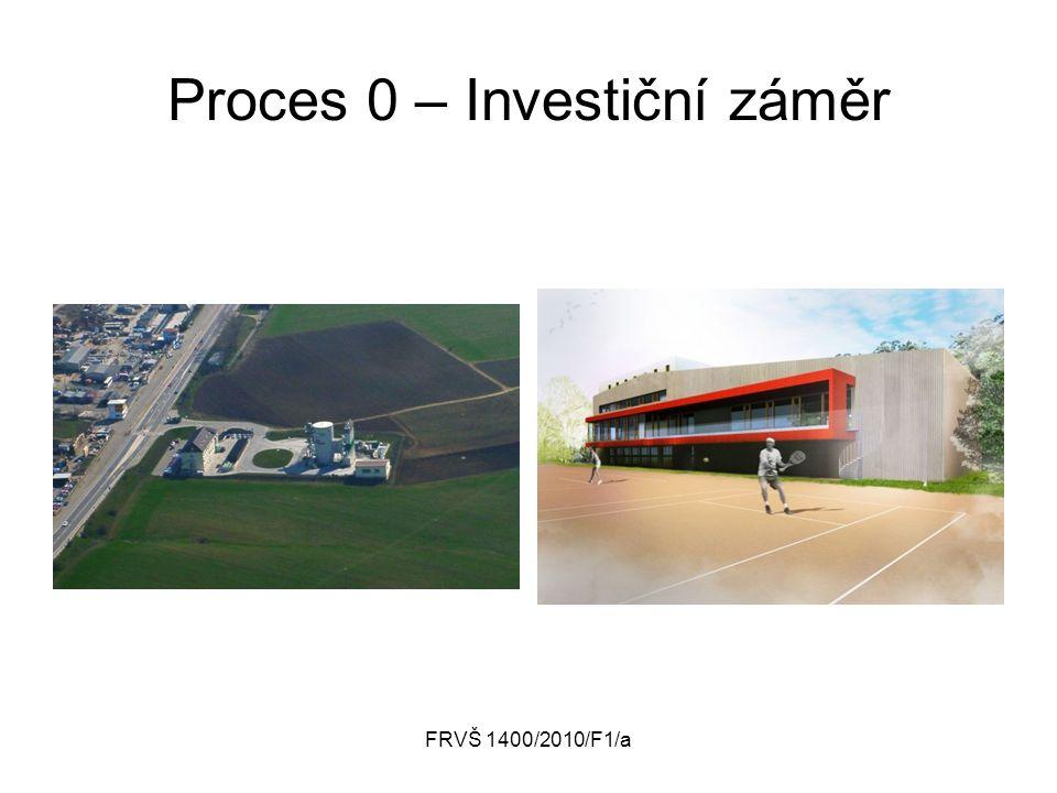 FRVŠ 1400/2010/F1/a Proces 0 – Investiční záměr