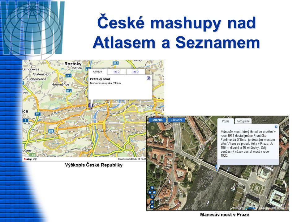 České mashupy nad Atlasem a Seznamem Výškopis České Republiky Mánesův most v Praze