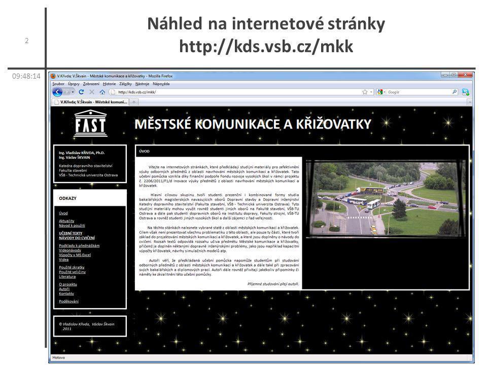 Náhled na internetové stránky http://kds.vsb.cz/mkk 2 09:50:11