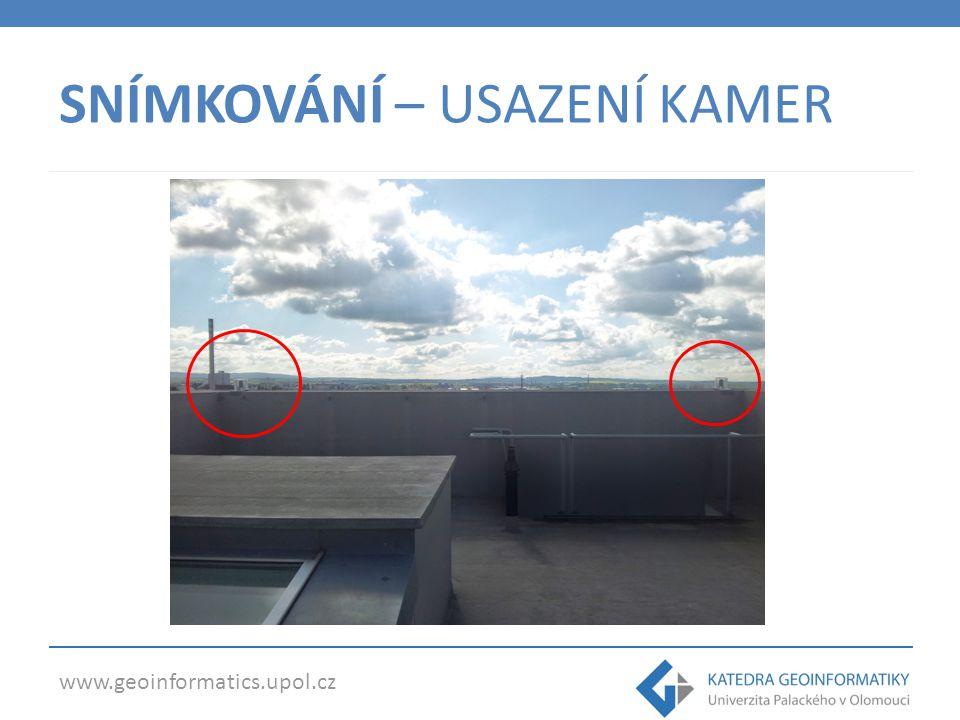 www.geoinformatics.upol.cz SNÍMKOVÁNÍ – USAZENÍ KAMER