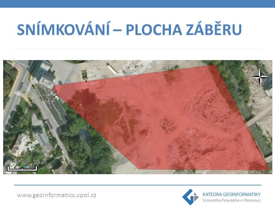 www.geoinformatics.upol.cz SNÍMKOVÁNÍ – PLOCHA ZÁBĚRU