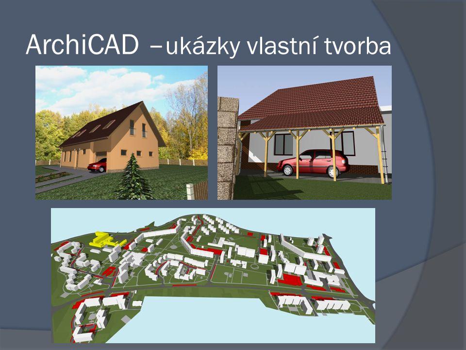 ArchiCAD – ukázky vlastní tvorba