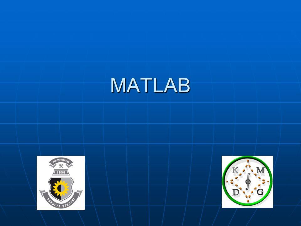MATLAB : operace Tabulka a graf: x=0:0.01:1; % x-ové souřadnice y=x.*sin(1./x); % y-ové souřadnice tabulka = [x' y'] % tabulka plot(x,y)