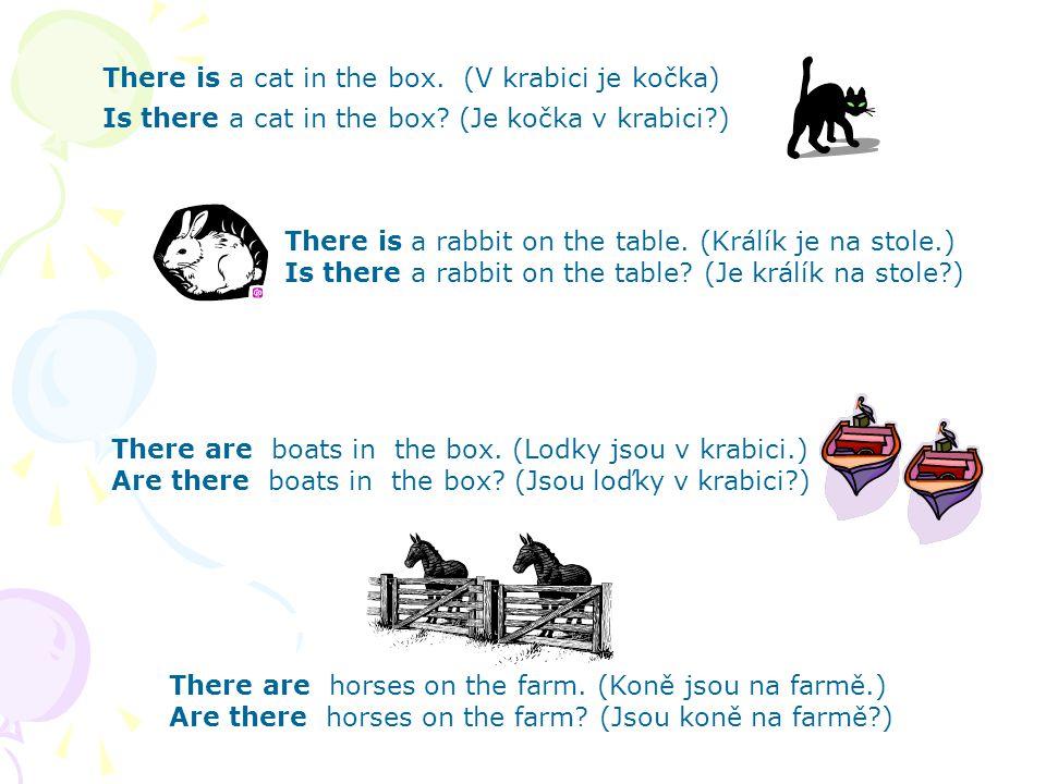 Tázací věty Otázku tvoříme tak, že sloveso přesuneme na první místo: There is a horse on the farm.(Kůň je na farmě.) Is there a horse on the farm.