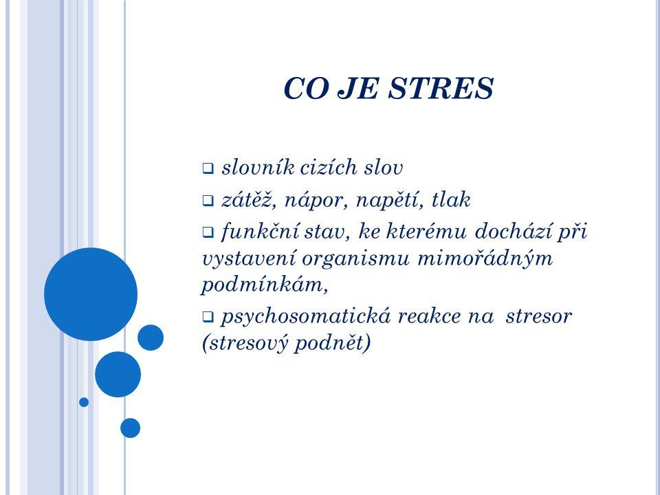 OBSAH SEMINÁŘE  Co je stres  Co jsou stresory  Jak funguje náš mozek  Stresová reakce na psychické a fyziologické úrovni  Stresorem sám sobě  Ja