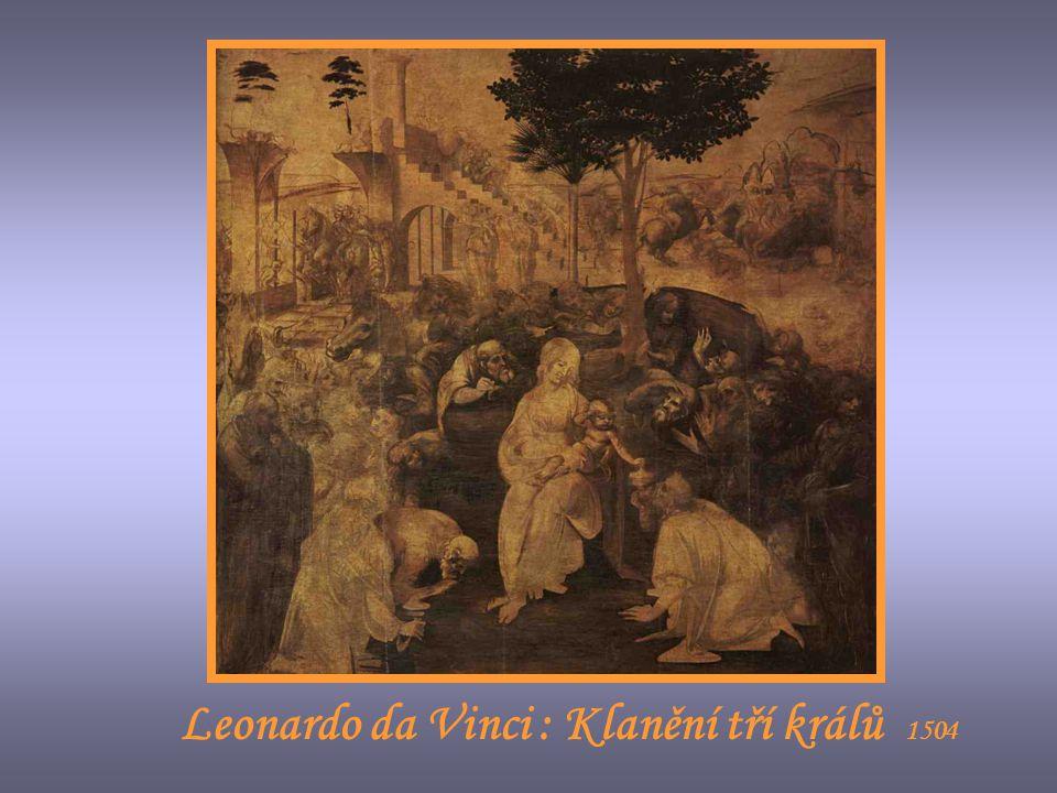 Leonardo da Vinci : Křtění Krista 1473