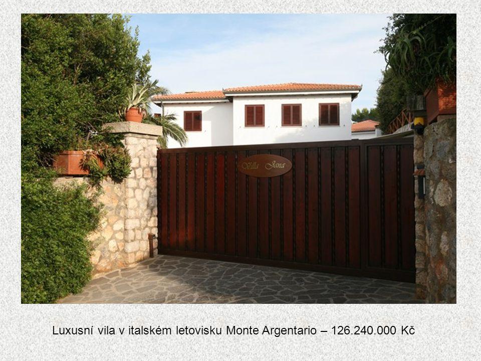 Luxusní vila v italském letovisku Monte Argentario – 126.240.000 Kč