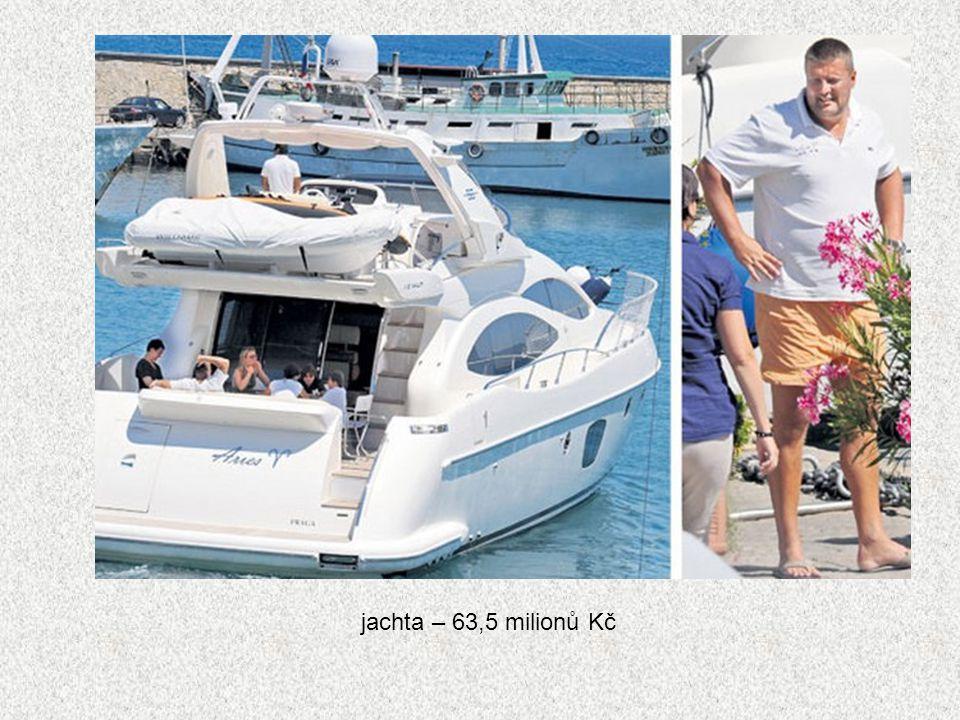 jachta – 63,5 milionů Kč