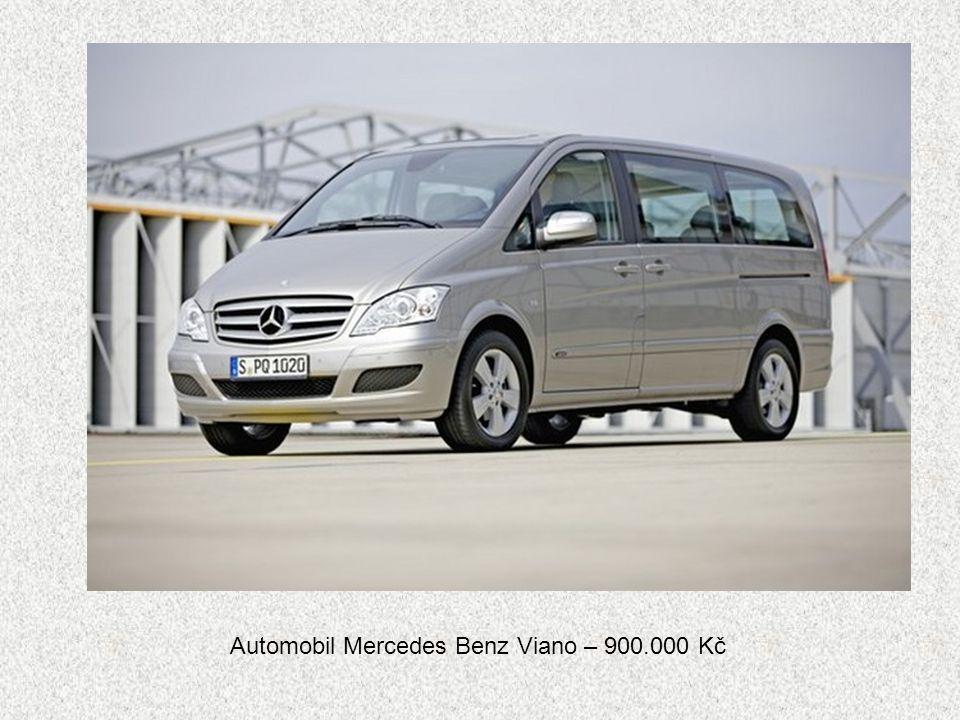 Automobil Mercedes Benz Viano – 900.000 Kč
