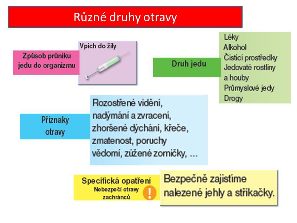 Různé druhy otravy