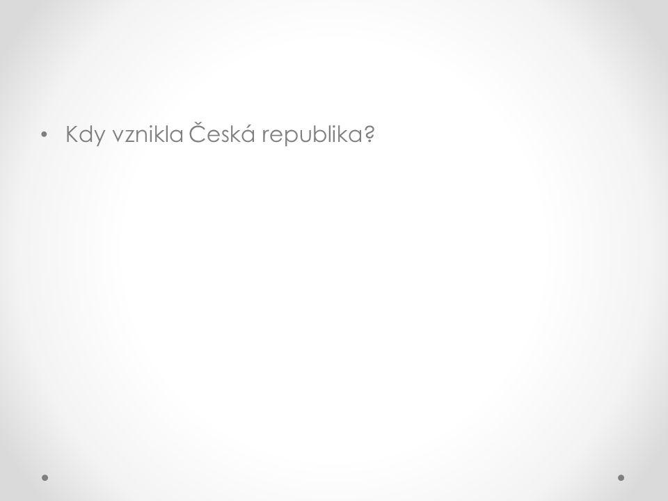 Kdy vznikla Česká republika?