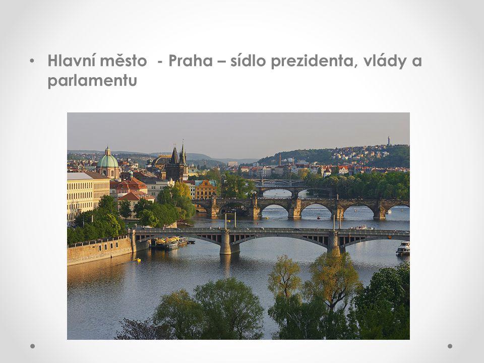 Hlavní město - Praha – sídlo prezidenta, vlády a parlamentu