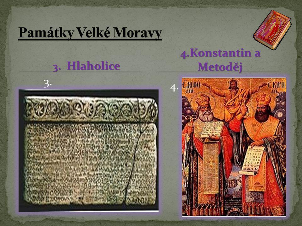 1. Velkomoravské šperky 1. 1. 2. S 2. Křesťanský křížek nalezený v Mikulčicích v 8.-9. stol..