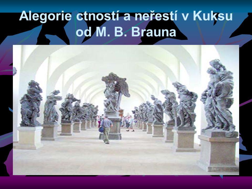 Alegorie ctností a neřestí v Kuksu od M. B. Brauna