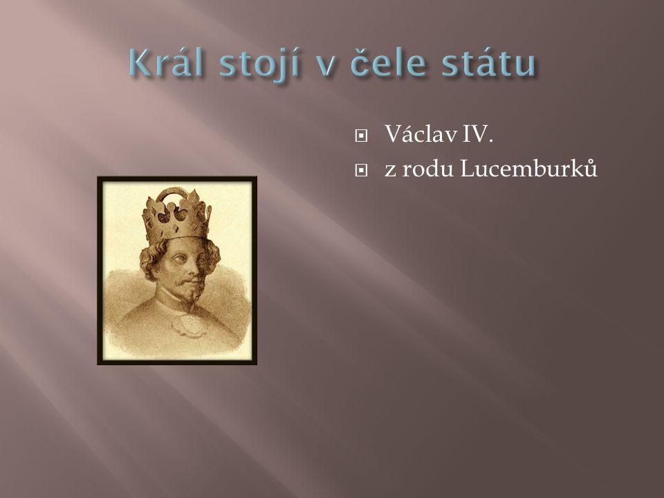  Václav IV.  z rodu Lucemburků