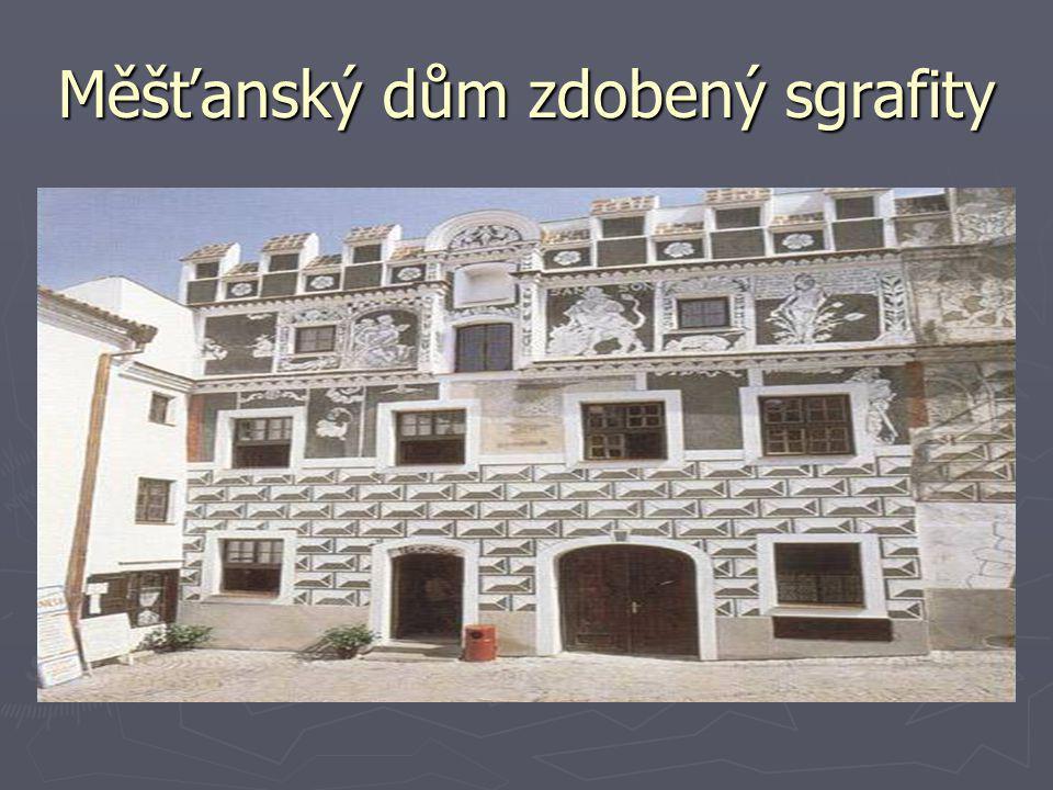 Měšťanský dům zdobený sgrafity