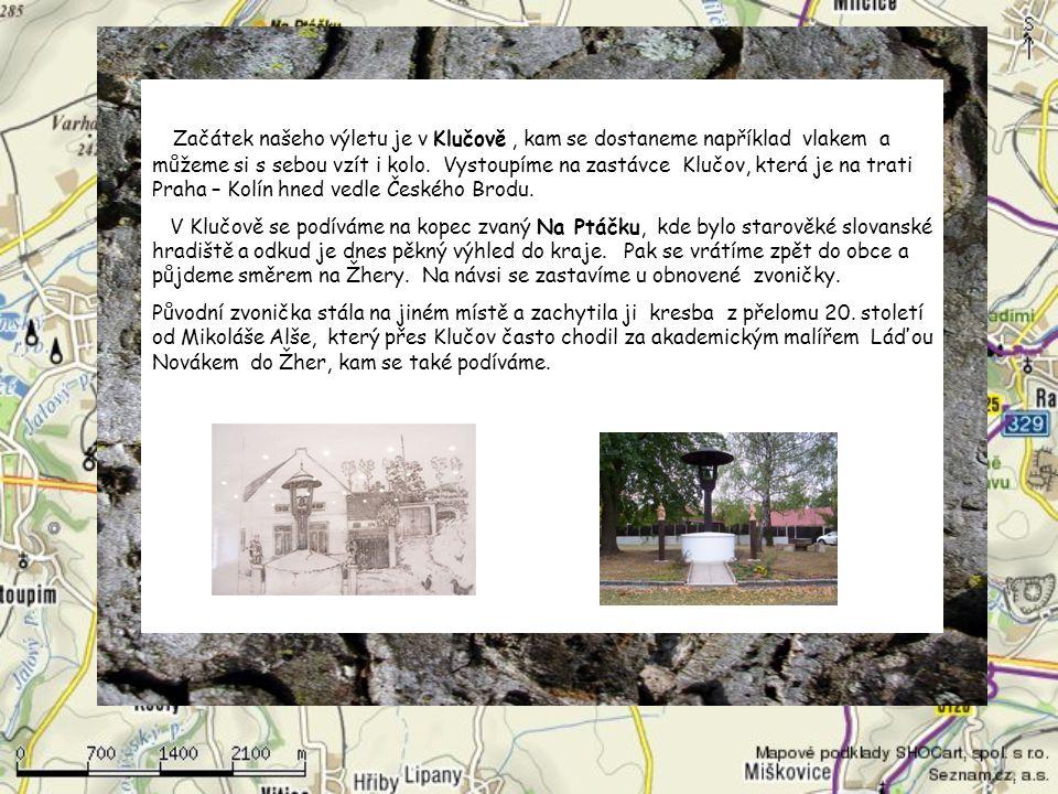 Začátek našeho výletu je v Klučově, kam se dostaneme například vlakem a můžeme si s sebou vzít i kolo.