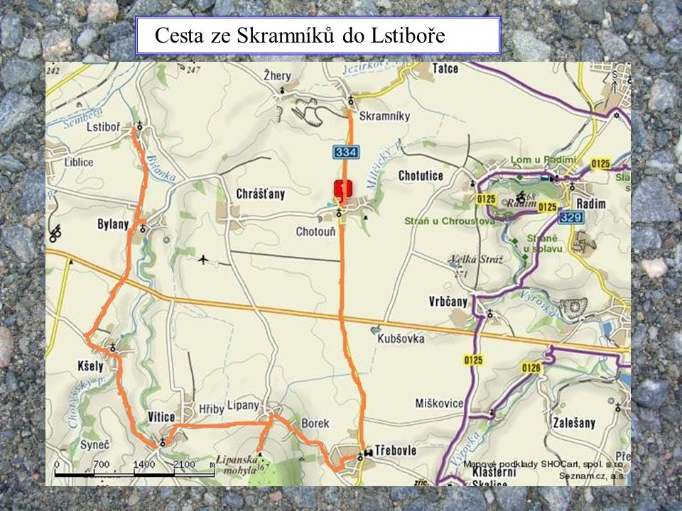 Cesta ze Skramníků do Lstiboře