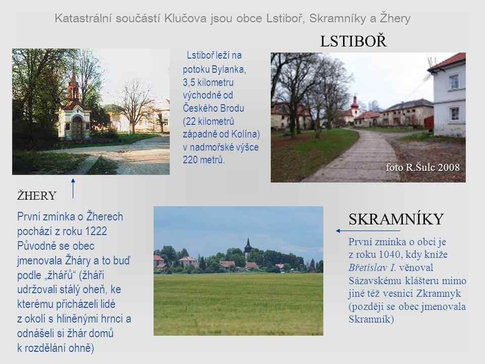 Klučov je dnes samostatnou obcí o rozloze 14,44 km² a 874 obyvateli (rok 2008) knihovna: Obecní veřejná knihovna byla založena roku 1920 Ku podnětu st