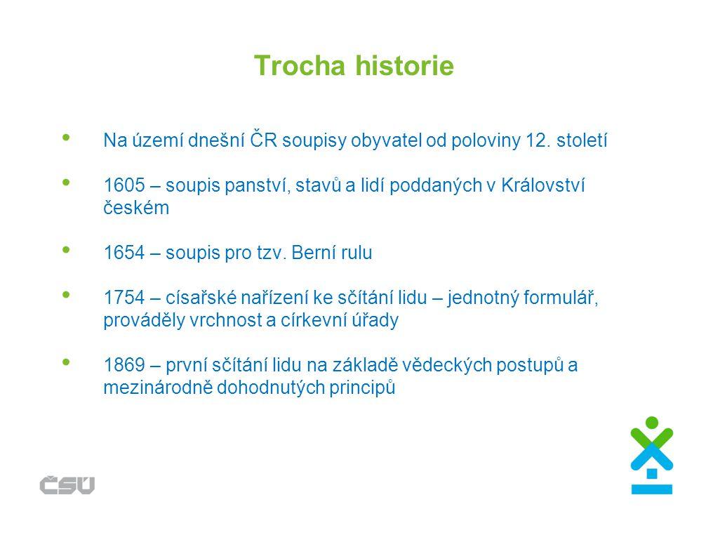 Kolik nás tu bylo Odhadované a sečtené počty obyvatel na území dnešní ČR : 5.
