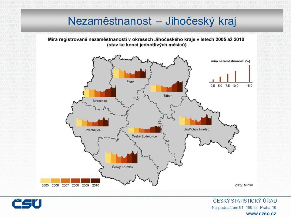 ČESKÝ STATISTICKÝ ÚŘAD Na padesátém 81, 100 82 Praha 10 www.czso.cz Nezaměstnanost – Jihočeský kraj