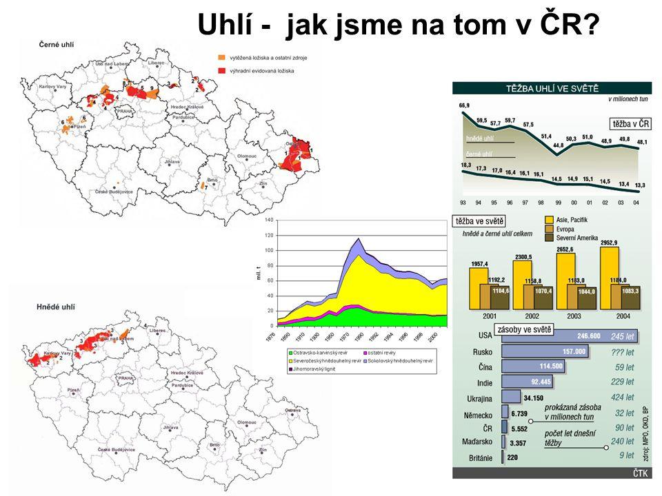 Uhlí - jak jsme na tom v ČR?