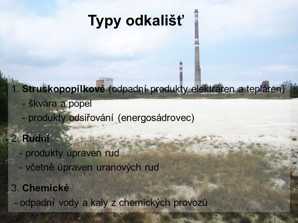 1. Struskopopílkové (odpadní produkty elektráren a tepláren) - škvára a popel - produkty odsiřování (energosádrovec) 2. Rudní - produkty úpraven rud -