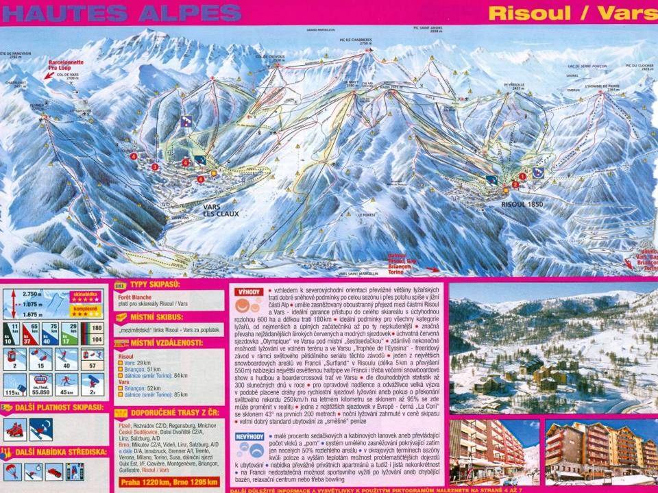 Nejvyšší bod dosažitelný vlekem ve středisku Vars – 2 750 m v Alpe d´Huez je to až 3 330 m)