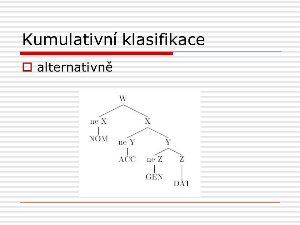 Kumulativní klasifikace  alternativně
