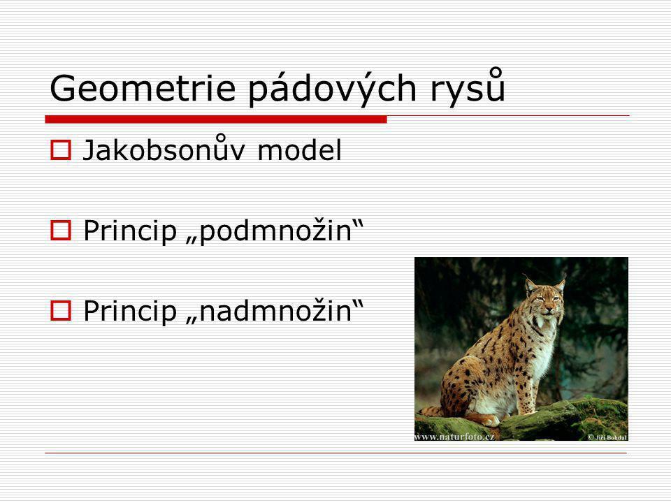 "Geometrie pádových rysů  Jakobsonův model  Princip ""podmnožin""  Princip ""nadmnožin"""