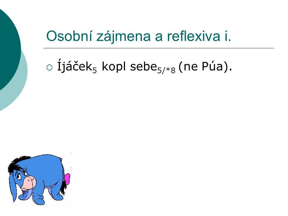 Osobní zájmena a reflexiva i.  Íjáček 5 kopl sebe 5/*8 (ne Púa).
