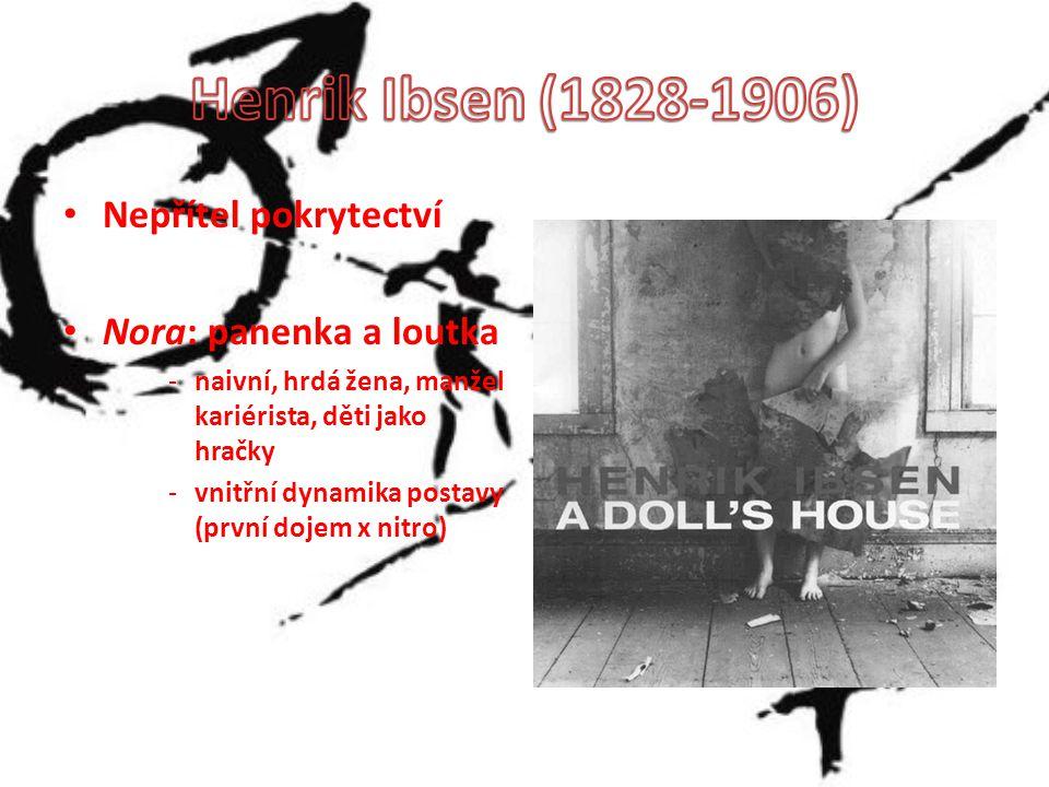 Nepřítel pokrytectví Nora: panenka a loutka -naivní, hrdá žena, manžel kariérista, děti jako hračky -vnitřní dynamika postavy (první dojem x nitro)